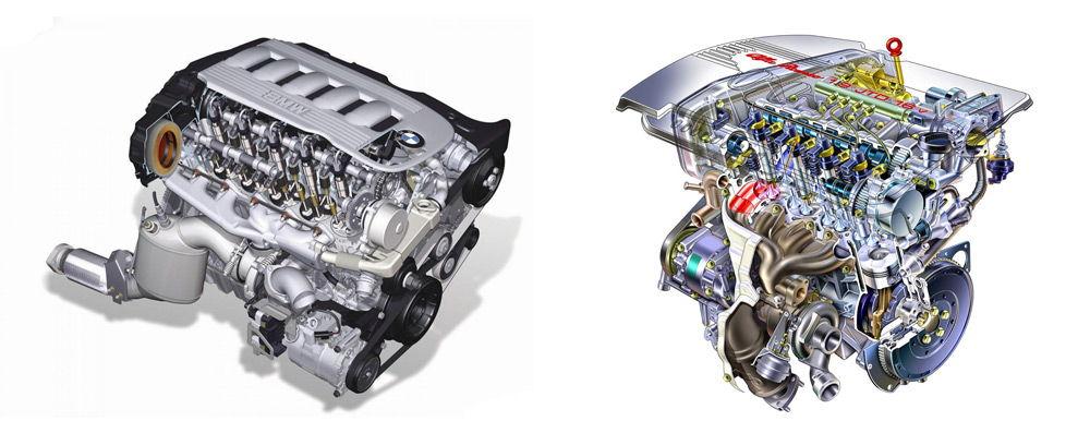 Дизельный и бензиновый двигатель