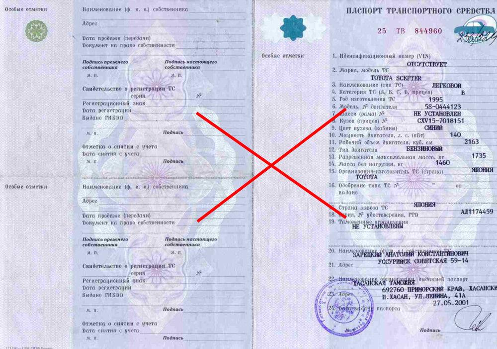 Паспорт технического средства
