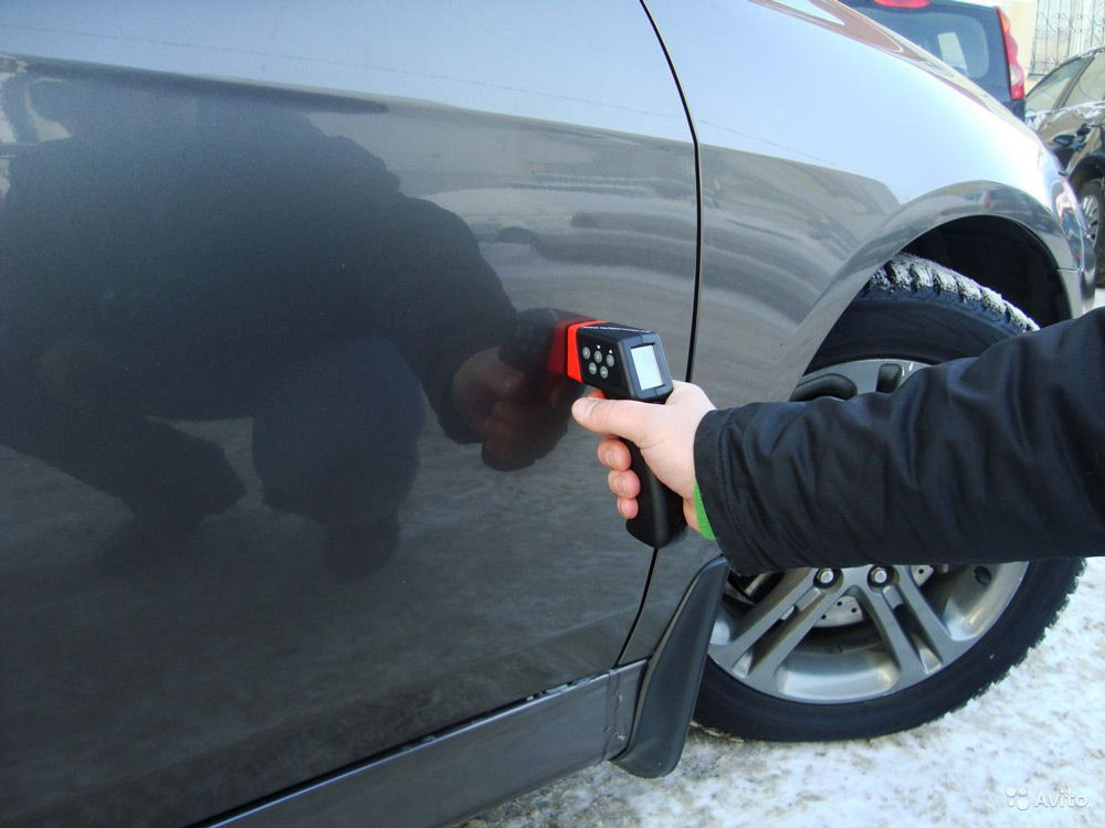 Проверка авто толщинометром