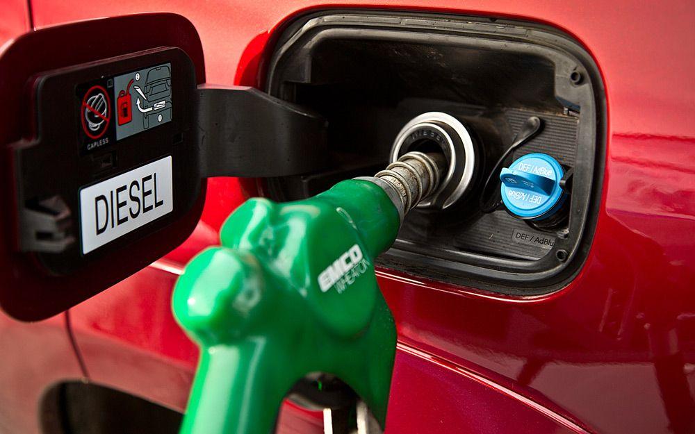 Заправка дизельного автомобиля