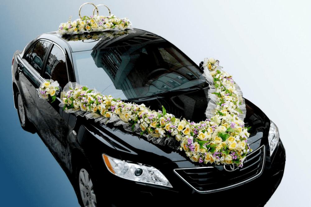 Украшение для автомобилей на свадьбу