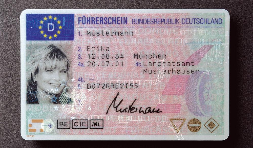 Водительское удостоверение Германии