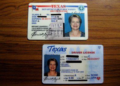 Техасское водительское удостоверение
