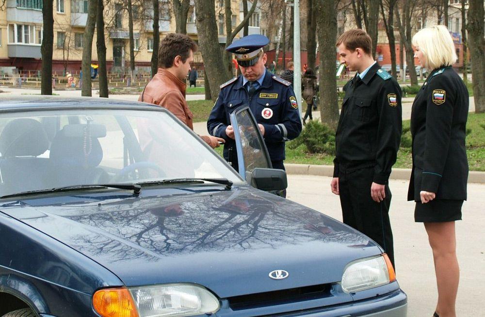 Арест автомобиля сотрудниками ГИБДД