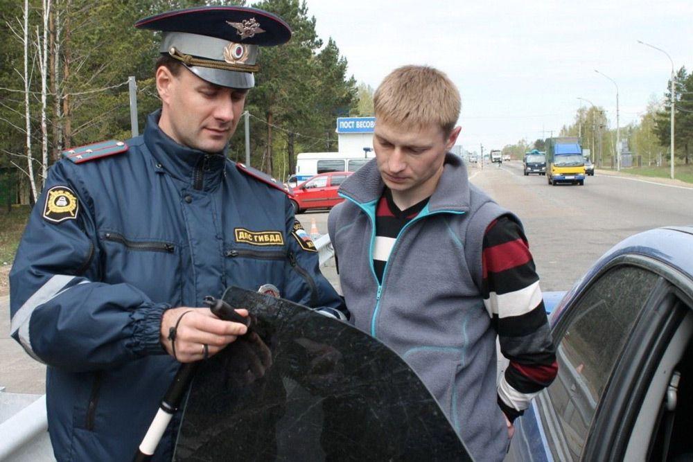 Остановка сотрудником ГИБДД арестованного авто