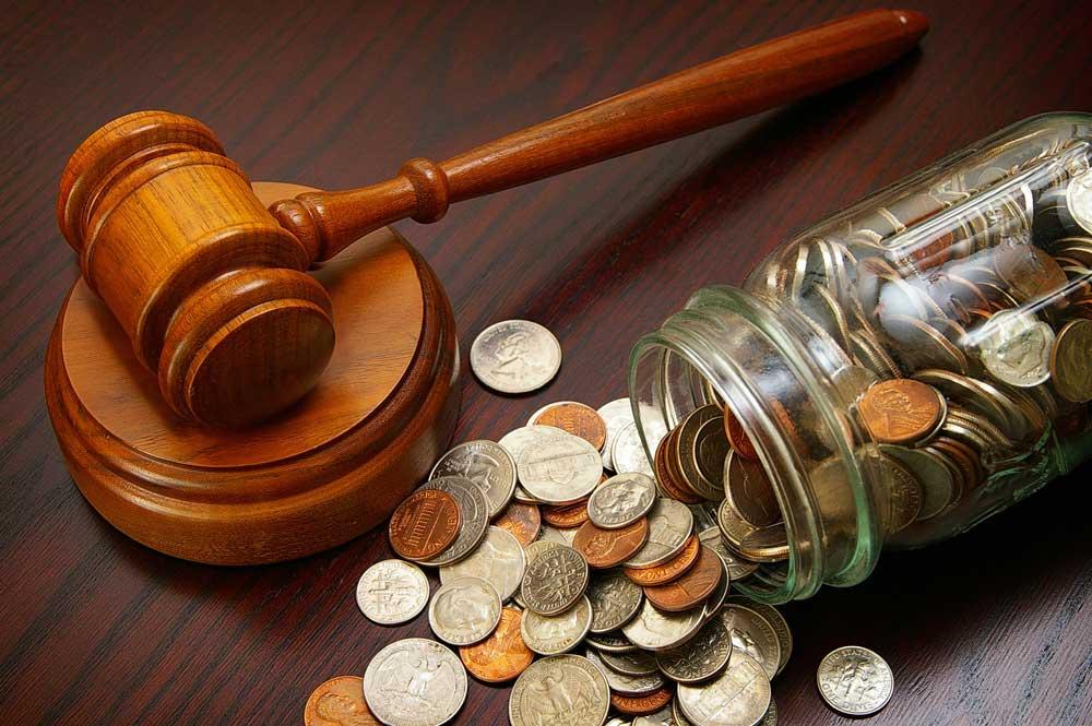 деньги взысканы через суд