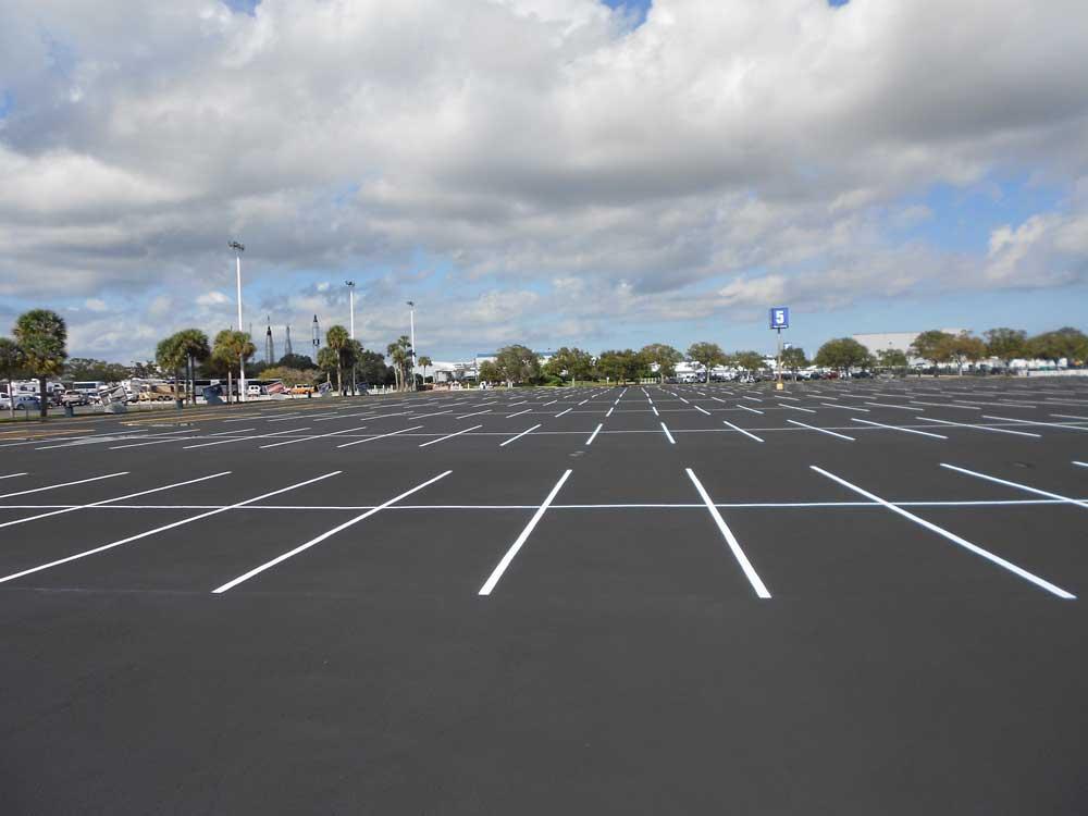 Место для стоянки машин