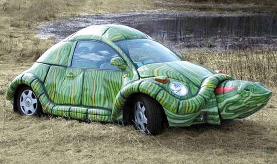 Автомобиль в форме черепахи