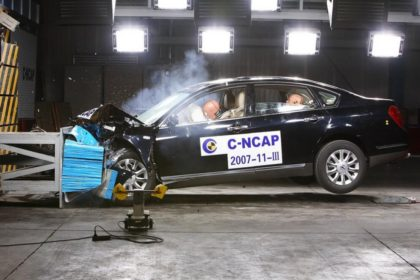 Проведение краш-теста NCAP