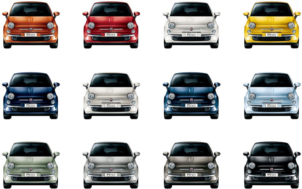 Авто разных цветов