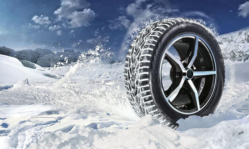 Шипованная зимняя шина