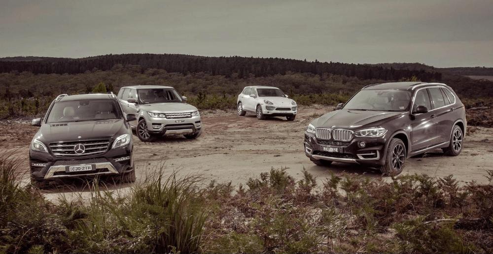 Mercedes, BMW, Porshe, Range Rover