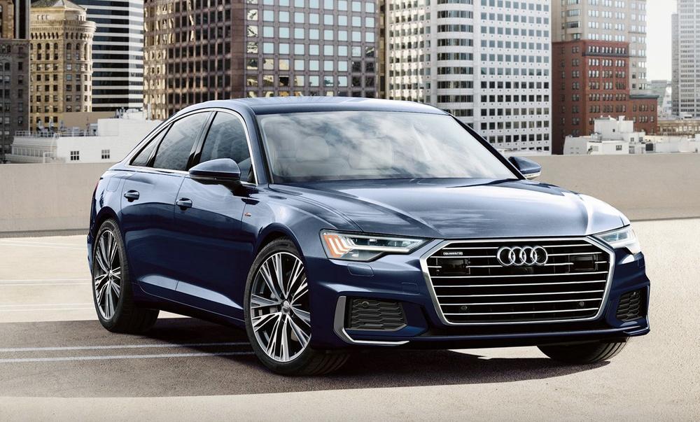 Audi A6 синий
