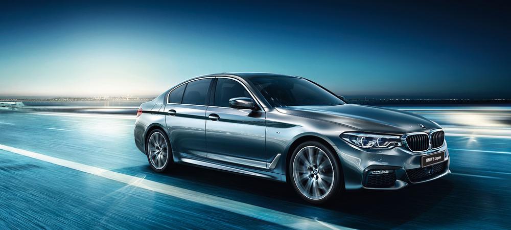 BMW 5 Series серый