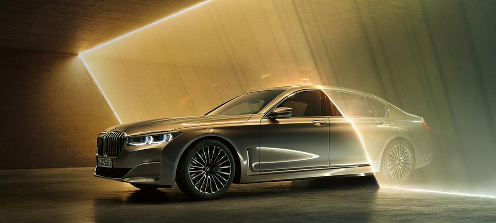 BMW 7 серый