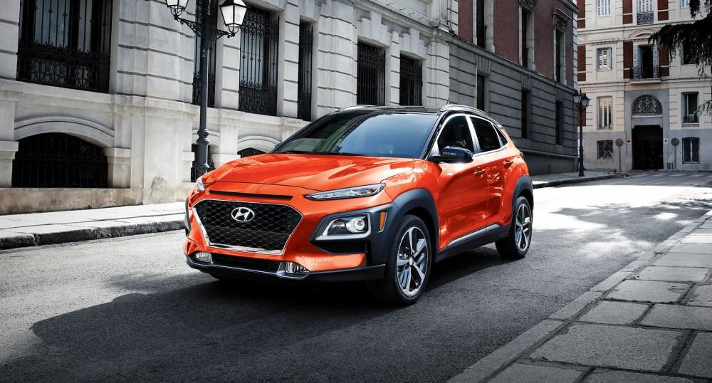 Hyundai Kona оранжевого цвета