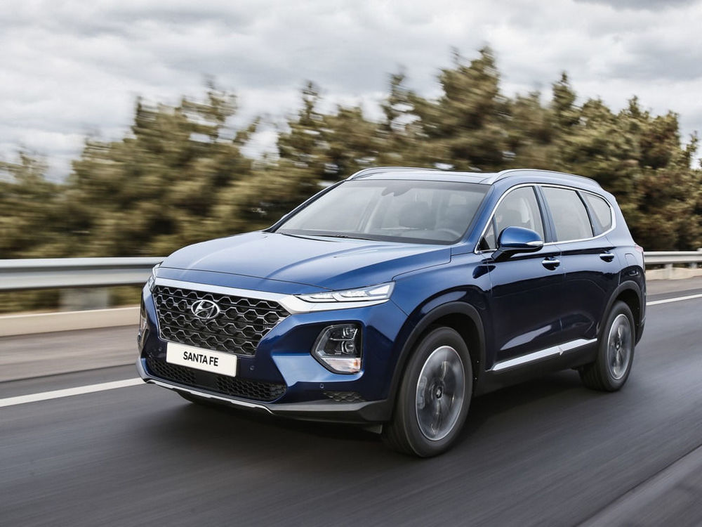 Hyundai Santa Fe синий цвет