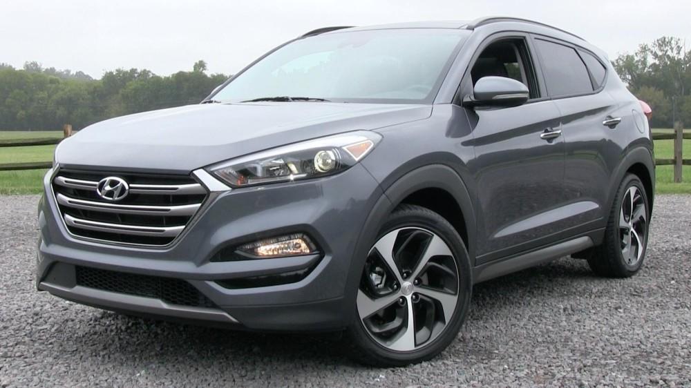 Hyundai Tucson 2016 серого цвета