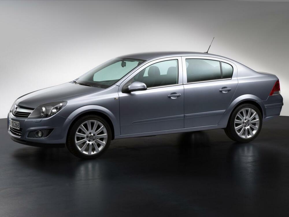 Opel Astra серый