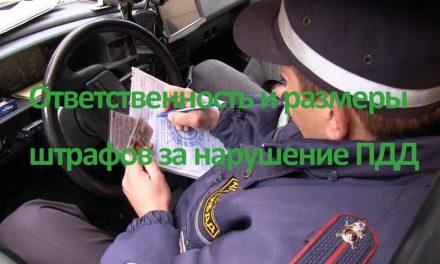 Виды штрафов автолюбителю
