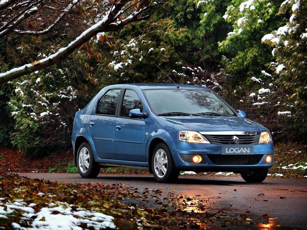 Renault Logan синяя