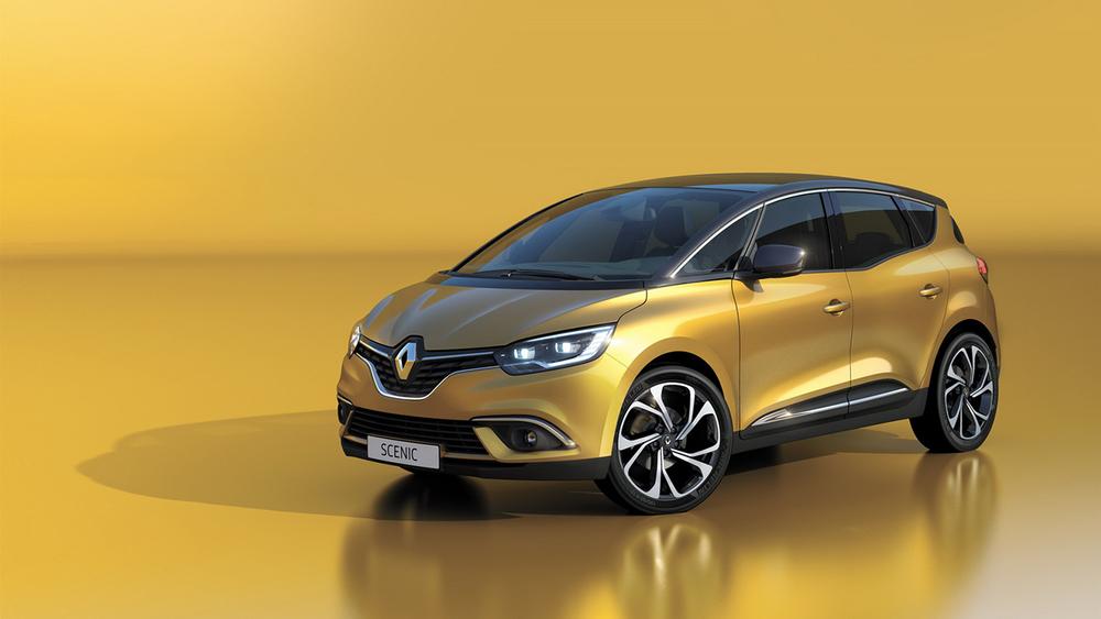 Renault Scenic желтый