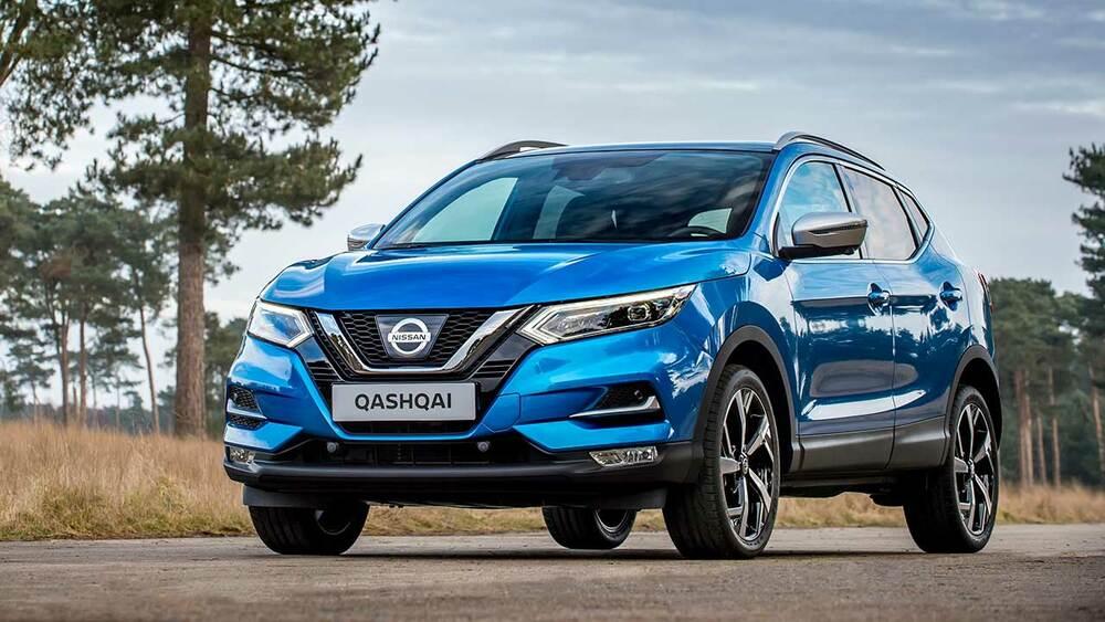 Синий Nissan Qashqai