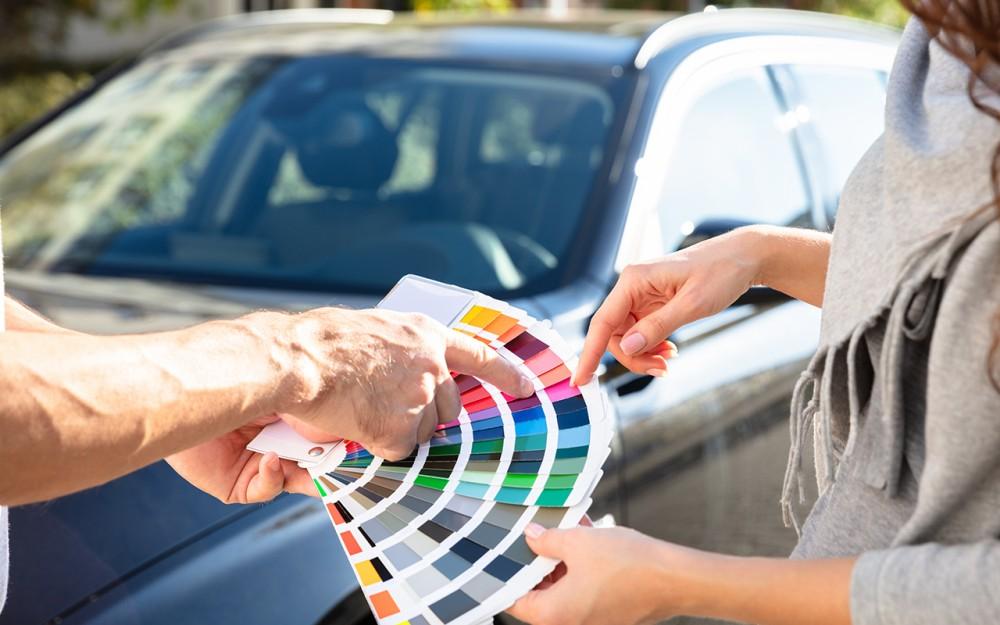 Цветовая палитра автомобилей