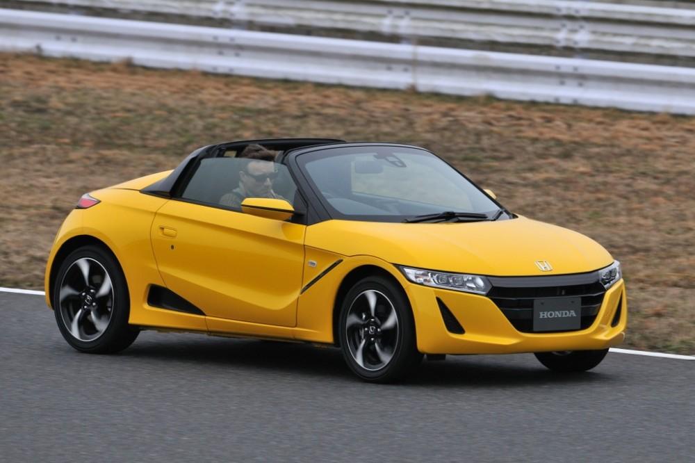 Желтая Honda S660