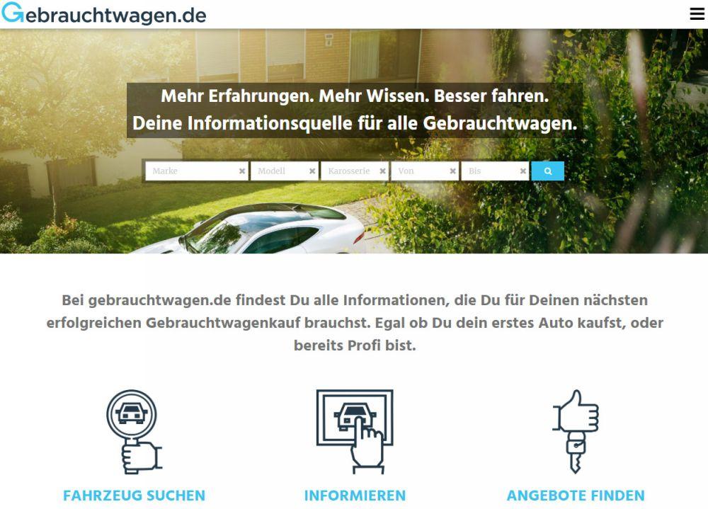 Официальный сайт Gebrauchtwagen.de
